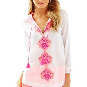 🌀Lilly Pulitzer | Amelia Island Embroidered Tunic
